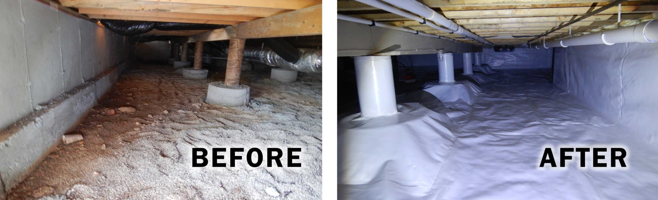 Crawl Space Encapsulation in Springfield Missouri Before And After